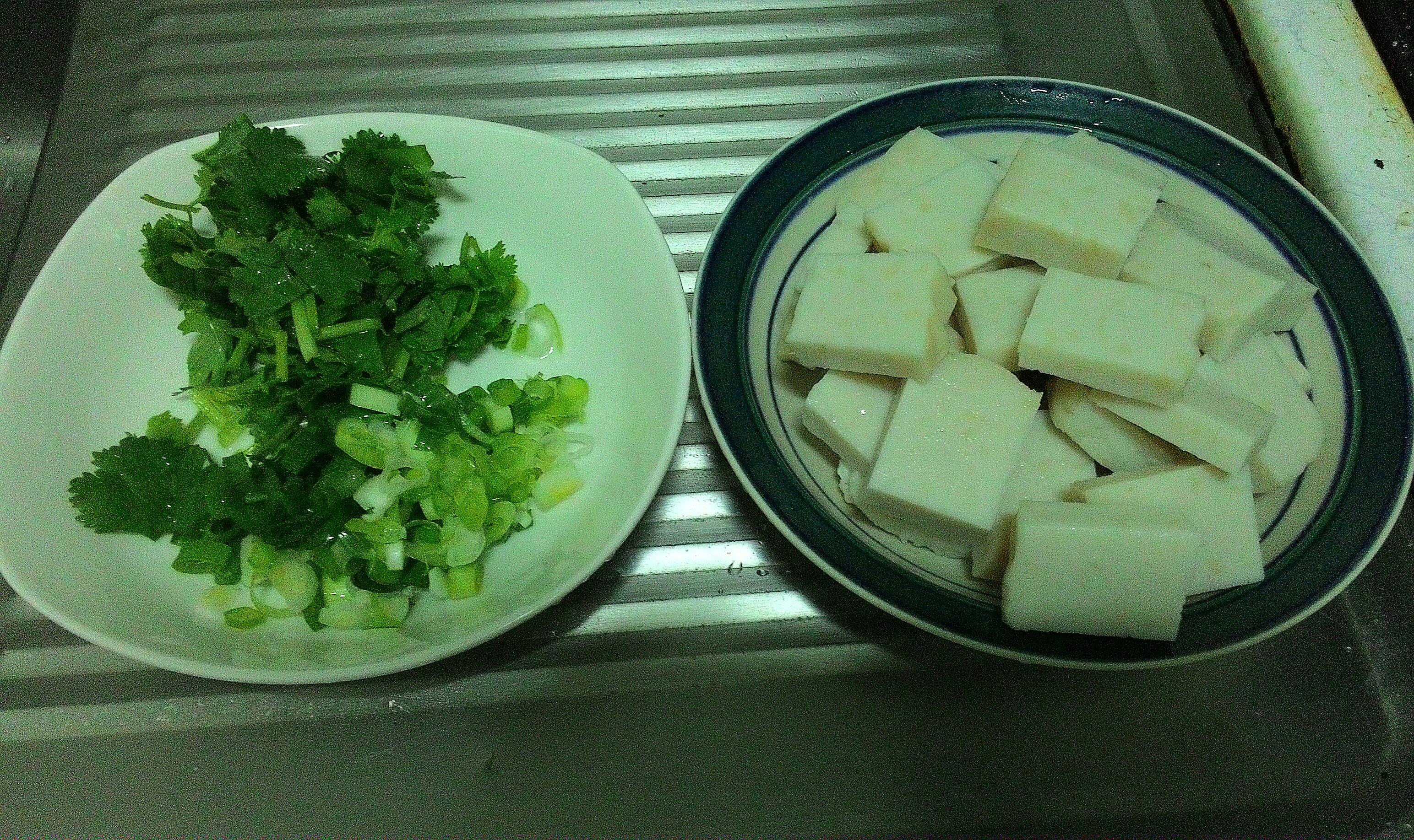 食材切妥。