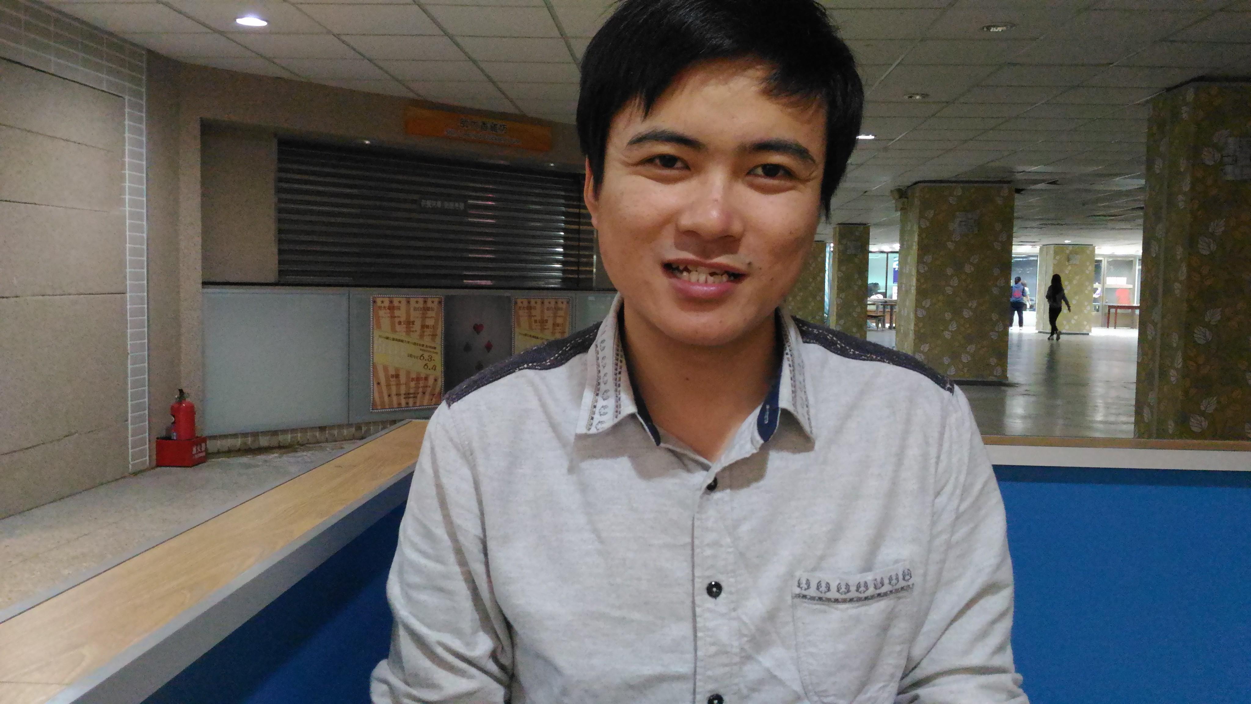 第一位從中國到台灣念博士班的視障生——朱浚溢。