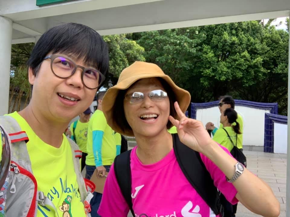 我與寶姊合照(20190824颱風天在中正運動中心踩飛輪)
