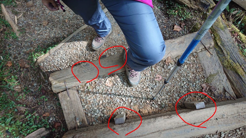 使用登山杖探測、追跡,就有機會避開障礙。